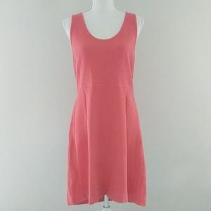 J Crew • Salmon Pink Fit and Flare Dress